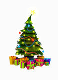 Christmas tree and presents Royalty Free Stock Photography