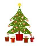 Christmas tree and presents Stock Photos
