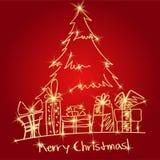 Christmas tree with presents. EPS10 Stock Photo