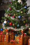 Christmas tree and presents. Decoration royalty free stock image