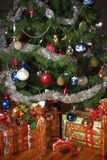 Christmas tree and presents. Decoration stock photography