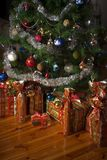 Christmas tree and presents. Decoration royalty free stock photo