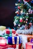 Christmas tree and presents Stock Image