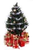 Christmas tree with presents Stock Image
