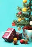 Christmas tree and presents Stock Photo