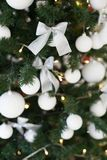 Christmas tree with presents, Garland lights new year postcard. 1 Stock Images