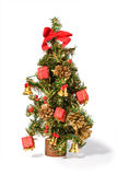 Christmas Tree with presents isolated on white Royalty Free Stock Photos