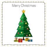 Christmas tree with presents. Royalty Free Stock Photography