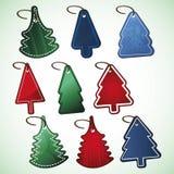 Christmas tree price tags Stock Image