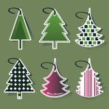 Christmas tree price tags Stock Photos