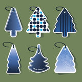 Christmas tree price tags Stock Photos