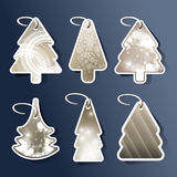 Christmas tree price tags or cards Stock Image
