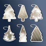 Christmas tree price tags or cards Stock Image