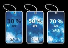 Christmas tree price tags or cards Stock Photo