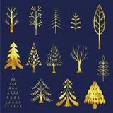 Christmas tree profile design Royalty Free Stock Photo