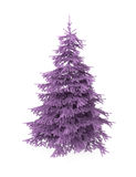 Christmas tree, purple, isolated on white. Christmas tree, purple, artificial, isolated on white with clipping path Royalty Free Stock Photography