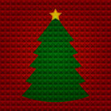 Christmas tree with pyramids background Royalty Free Stock Photo