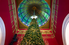 Christmas tree at Queen Victoria Building Royalty Free Stock Photography