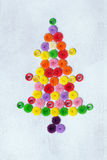 Christmas tree quilling. On white background Royalty Free Stock Images