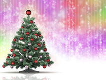 Christmas tree on rainbow background. Xmas tree on rainbow background Royalty Free Stock Photo