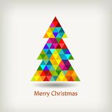 Christmas tree in rainbow colors Royalty Free Stock Photography