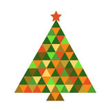 Christmas tree in rainbow colors Stock Photography