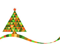 Christmas tree in rainbow colors Stock Photos