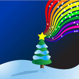 Christmas Tree rainbow Vector Stock Image