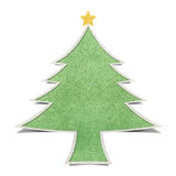 Christmas tree recycled papercraft background Royalty Free Stock Images