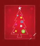 Christmas Tree Red Stock Photography