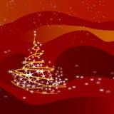 Christmas tree-red Stock Photo