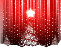 Christmas tree on the red Royalty Free Stock Images