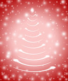 Christmas tree in red 5 stock illustration