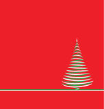 Christmas tree on red Royalty Free Stock Photos