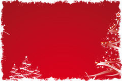 Christmas tree in red Royalty Free Stock Images
