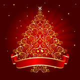 Christmas_tree_red Stock Image