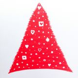 Christmas tree. Red abstract christmas tree Royalty Free Stock Photography