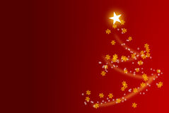Christmas tree with red background royalty free illustration
