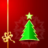 Christmas tree on the red background.  Royalty Free Stock Photography