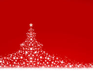 Christmas tree on red background. Bright fir tree on red background.Christmas background Royalty Free Stock Photos