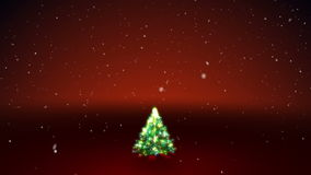 Christmas Tree. Red background stock footage