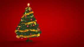 Christmas Tree on red background Royalty Free Stock Photography