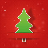Christmas tree on a red background Stock Image