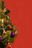 Christmas Tree With Red Background Royalty Free Stock Image