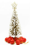 Christmas tree with red ball ornament Royalty Free Stock Photos