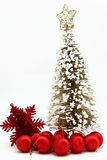 Christmas tree with red ball ornament Royalty Free Stock Images