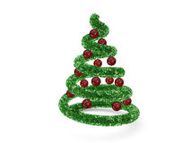 Christmas tree with red balls Royalty Free Stock Images