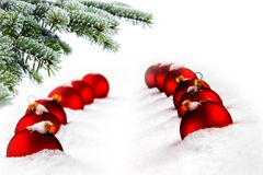 Christmas tree and red balls Royalty Free Stock Photo
