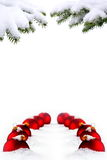 Christmas tree and red balls Royalty Free Stock Photography