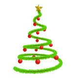 Christmas tree with red balls Royalty Free Stock Photo